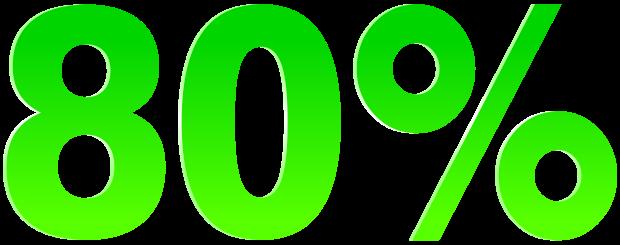 80 procent